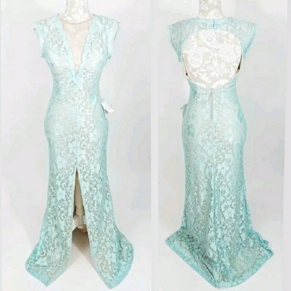 b75bc9181 b. darlin Dresses   Sexy Aqua Lace Mermaid Prom Dress Size 78   Poshmark